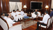 CM KCR met with Union Home Minister Rajnath Singh (3)