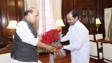 CM KCR met with Union Home Minister Rajnath Singh (4)
