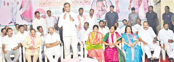 Harish Rao election campaign in warangal east001