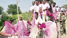 Jogu Ramanna election campaign in Hasanparthi