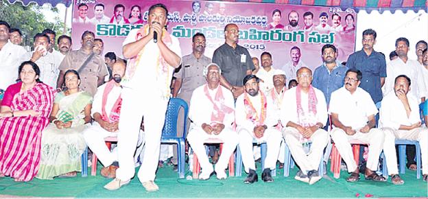 Pasunuri Dayakar election campaign in Kodakandla