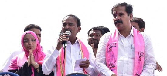 Etela Rajendar election campaign in warangal