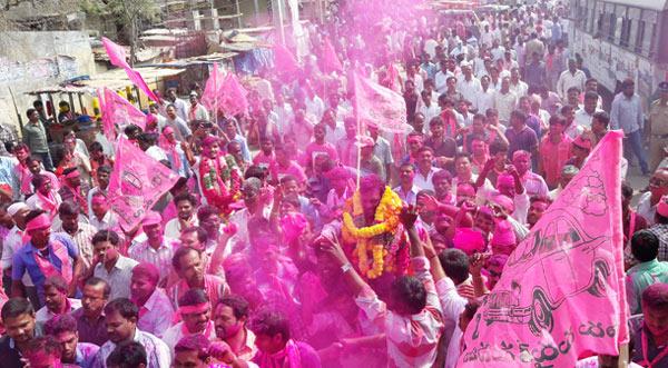 TRS-Won-Warangal,-Khammam,-Achampet-Elections-02