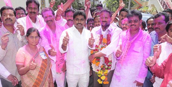 TRS-Won-Warangal,-Khammam,-Achampet-Elections
